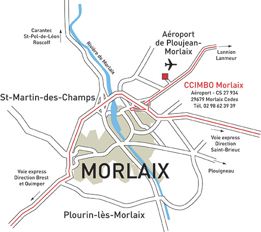 Plan d'accès CCIMBO Morlaix