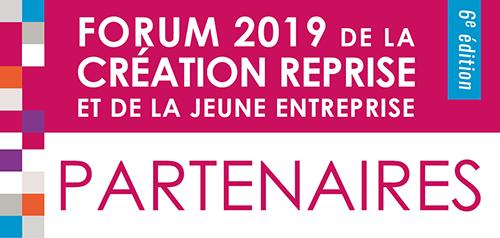 Les partenaires du Forum de la Création Reprise et de la Jeune Entreprise 2019