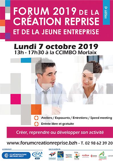 Carton d'invitation Forum 2019 de la Création Reprise et de la jeune entreprise